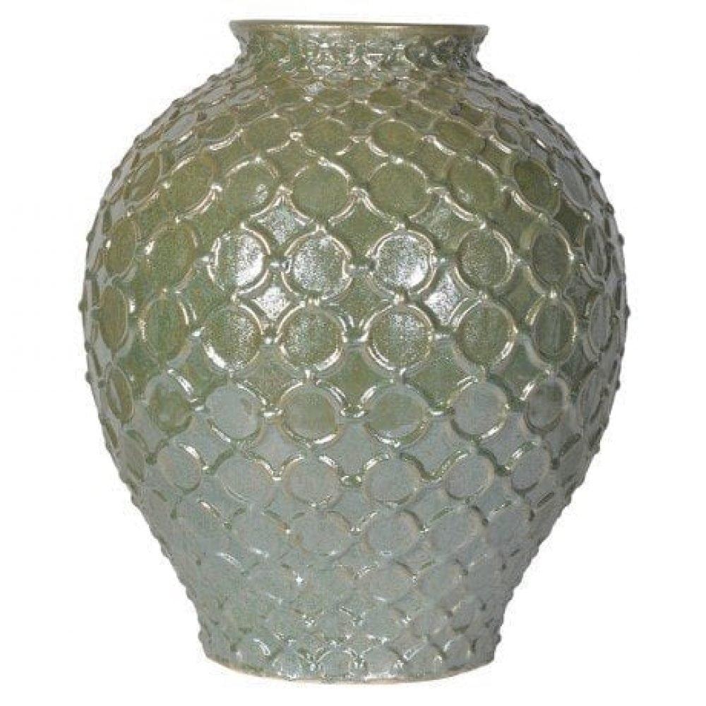 Green Embossed Vase