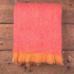 Pink Mohair Throw